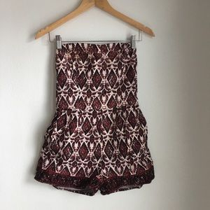 Maroon romper sleeveless